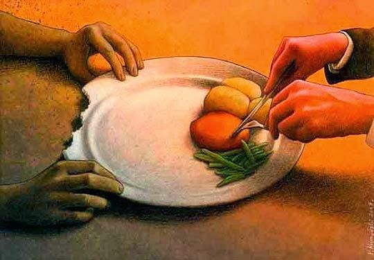 Kẻ thìcó dư, người thì thiếu thốn. Cùng dưới một mái nhà, vậy mà kẻ giàu sang liệu có bao giờ đoái hoài tới người đói khổ trước mắt mình?(Ảnh: Internet)