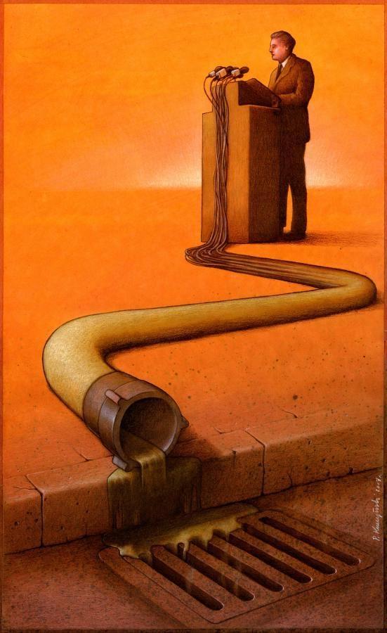 Người ta có thể cải tạo nước dơ thành nước sạch nhưng những lời hứa, lời phát biểu của những kẻ quyền thế đôi khi lạihôi thối đến mứcchỉ có thểchảy xuống miệngcống. (Ảnh: Internet)