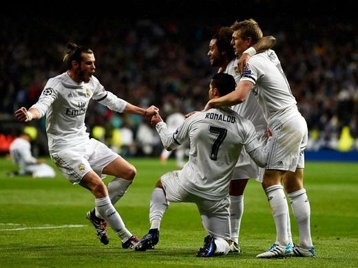 Cristiano Ronaldo đem về chiếc vé vào vòng bán kết cho Real Madrid. (Ảnh: Internet)