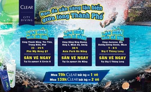 Lễ hội Clear City Diving sẽ diễn ra tại cả 3 miền và mở đầu là tại thành phố Hồ Chí Minh (Phú Mỹ Hưng) vào ngày 23 – 24/4 tới đây. (Ảnh: Internet). Nhanh chân giành cho mình một suất tham gia thôi các bạn trẻ ơi!