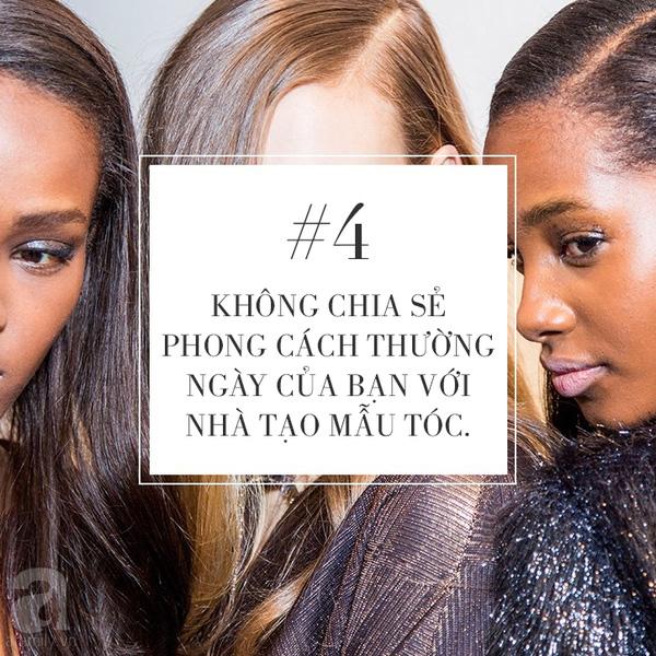 Khi bạn chia sẻ với stylist về phong cách thường ngày của mình ( như cách chọn trang phục, cách mix đồ hay màu sắc ưa thích..) thì cũng đồng nghĩa với việc bạn đang cung cấp gợi ý giúp họ tạo nên kiểu đầu phù hợp nhất với phong cách của bạn.