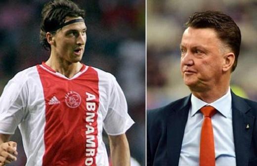 Ibrahimovic và Van Gaal có quan hệ không tốt từ khi còn ở Ajax