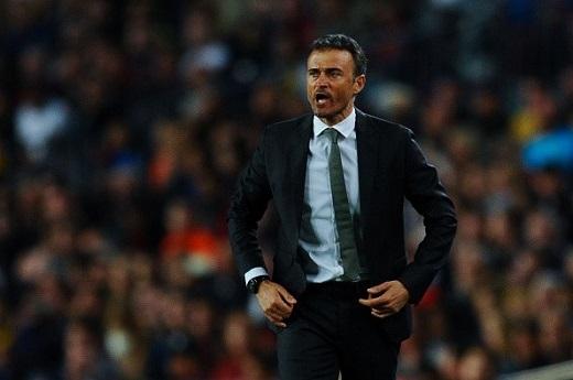 Luis Enrique không chỉ trích các học trò sau thất bại trước Valencia.Ảnh: Getty Images.