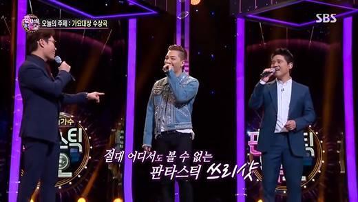 """Taeyang phiêu """"hit"""" Eyes, Nose, Lips siêu hay cùng hai lão làng Kpop"""