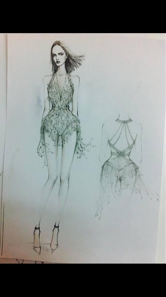 Bản vẽ chi tiết của bộ trang phục này.