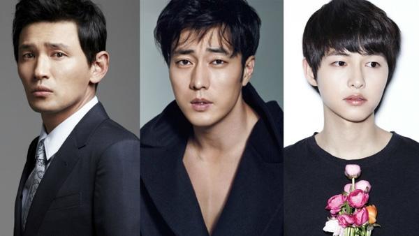 """Dàn nam chính của """"Gunhamdo"""": Hwang Jung Min, So Ji Sub và Song Joong Ki."""