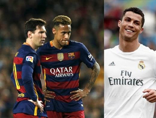 Ronaldo giờ đang có cơ hội cạnh tranhMessi và Neymar cho QBV