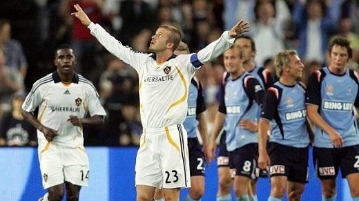 David Beckham trong trận giao hữu năm 2007.
