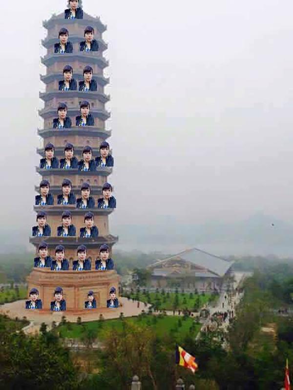 Và đã được đứng trên tháp.