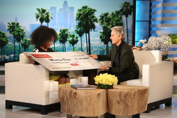Marley tại talkshow nổi tiếng của Elle DeGeneres.(Ảnh: Internet)