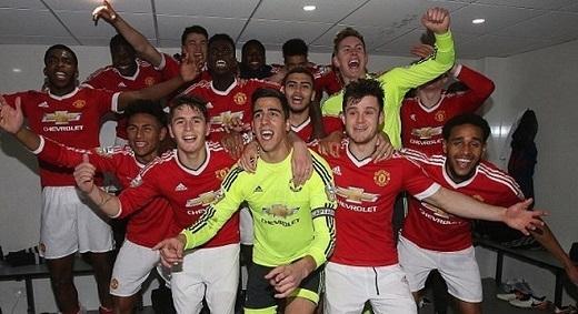 Đây là lần vô địch thứ 4 trong 5 năm qua của U21 Manchester United.