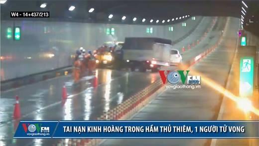 Kinh hoàng tai nạn thảm khốc ở hầm Thủ Thiêm khiến 1 người tử vong