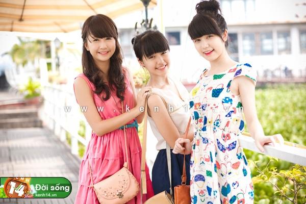 3 cô nàng xinh xắn và cực đáng yêu.