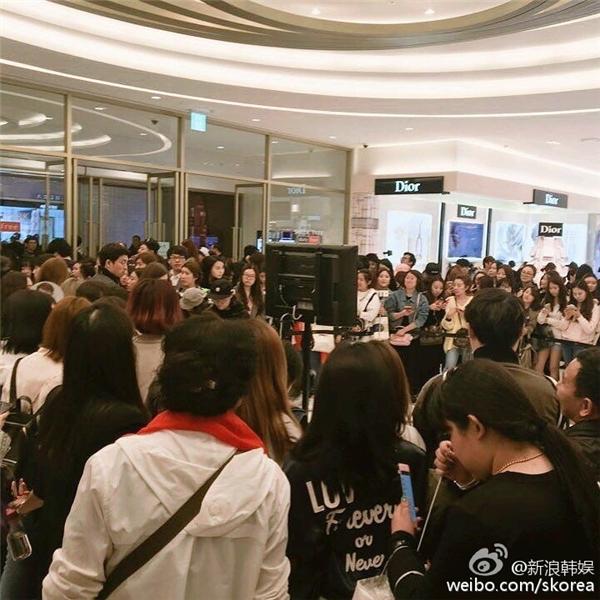 Hàng trăm fan có mặt để gặp Song Joong Ki