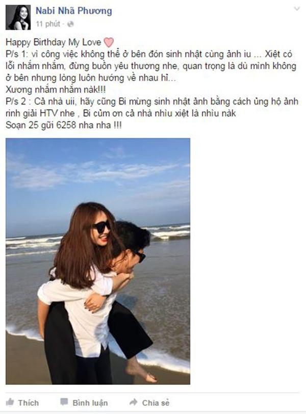 Và mới đây, trên trang cá nhân của mình, nữ diễn viên Tuổi Thanh Xuân đã lần đầu công khai bày tỏ sự yêu thương dành cho Trường Giang. - Tin sao Viet - Tin tuc sao Viet - Scandal sao Viet - Tin tuc cua Sao - Tin cua Sao