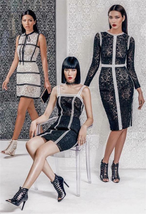 Bộ váy của Chung Thanh Phong thuộc bộ sưu tập Ren đối xứng và có giá bán khoảng 18 đến 25 triệu cho 1 thiết kế.