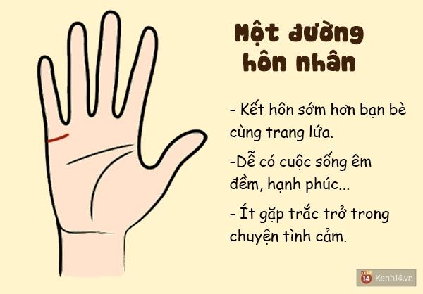 Số đường hôn nhân trên tay cho bạn biết điều gì?