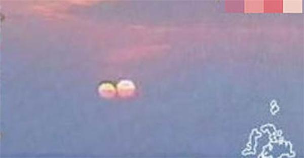 Hình ảnh hai mặt trời xuất hiện khá rõ tại Đài Loan vào ngày4/3/2011. (Ảnh: Internet)