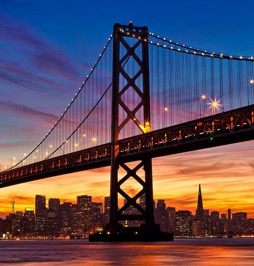 Chiếc cầu nối liền thành phố San Francisco trên mũi phía bắc của bán đảo San Francisco với hạt Marin.(Ảnh: Internet)