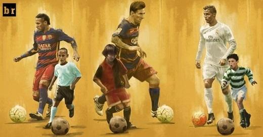 Messi, Ronaldo, Neymar là 3 cầu thủ bóng đá có thu nhập cao nhất thế giới. Ảnh: Internet.