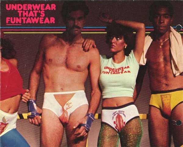 Bộ ảnh quảng cáo đồ lót họa tiết vui nhộn từng được yêu thích trong một thời gian dài.