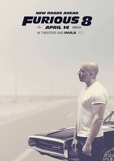Vin Diesel đơn độc trên poster Furious 8.