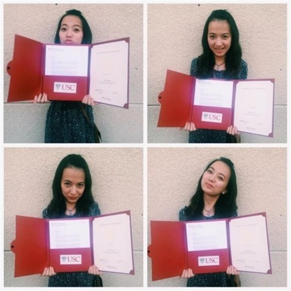 Xuân Nghi luôn nỗ lực học tập và tốt nghiệp cấp 3 ở Mỹ với điểm cao. Hiện tại, cô nàng đang là sinh viên năm cuối trường University of Southern California (USC) ngành Music Industry (chuyên về sản xuất và kinh doanh âm nhạc). - Tin sao Viet - Tin tuc sao Viet - Scandal sao Viet - Tin tuc cua Sao - Tin cua Sao