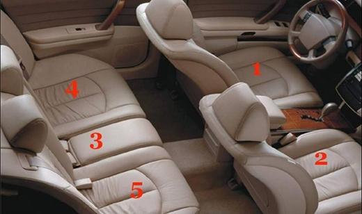 Ghế sau, chính giữa, vị trí số 3 chính là chỗ ngồi an toàn nhất dù thiếu thoải mái nhất. (Ảnh; Internet)