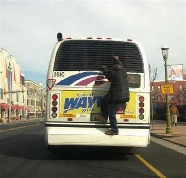 Cách đi xe buýt không mất tiền.