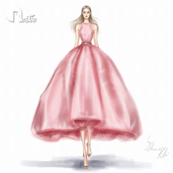 Váy mullet bất đối xứng - nét đẹp hiện đại, thanh lịch duyên dáng.