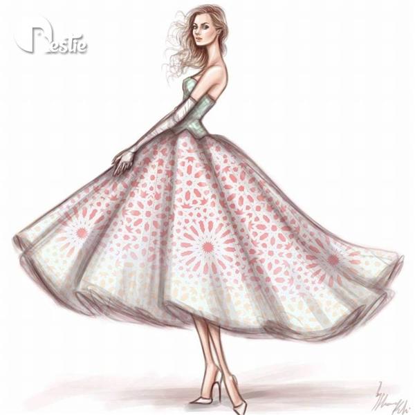 Những chiếc váy xòe ngắn ngọt ngào, điệu đà.