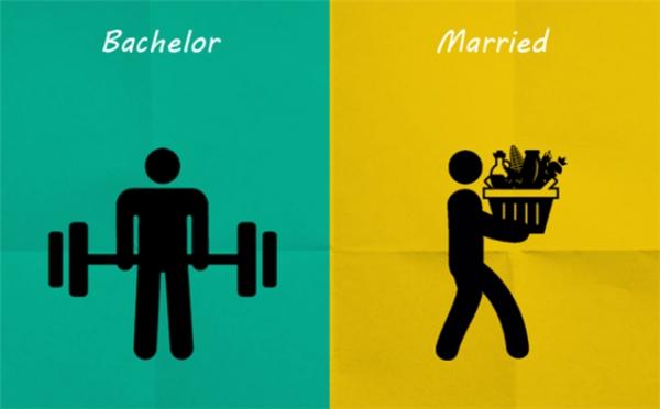 Tập gym hay bưng vác cho vợ cũng đều là thể dục thể thao thôi. Vô tư lên các bác!(Ảnh: Internet)