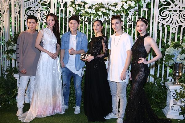 3 chàng ca sĩ bảnh trai của nhóm nhạc NOPE đến từ Thái Lan cũng có mặt tại sự kiện tối nay.