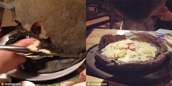 Và phần đế phẳng chính là chiếc pizza ngon lành vừa được làm chín do nhiệt độ cao.(Ảnh: Instagram)