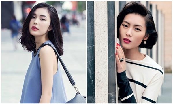 Hot girl Helly Tống và siêu mẫu quốc tế Lưu Vân có ngoại hình có nhiều nét tương đồng. (Ảnh: Internet)