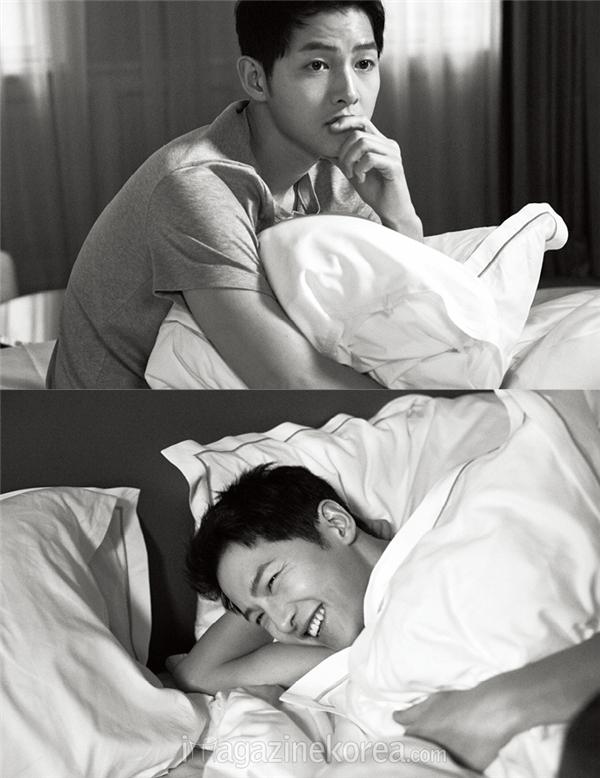 Những khoảnh khắc đẹp đến từng centimet của Song Joong Ki trên Harper's Bazaar.