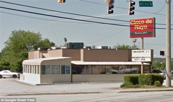 Nhà hàng Cinco de Mayo Mexican Grill - nơi diễn ra điều kì diệu hôm Chủ nhật tuần trước.(Ảnh: Google Street View)