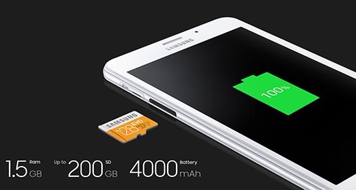 Khả năng của pin cho phép người dùng thoải mái giải trí hàng giờ liền