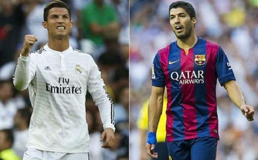 Không chỉ hơn số bàn thắng, Luis Suarez còn vượt trội Ronaldo về hiệu quả
