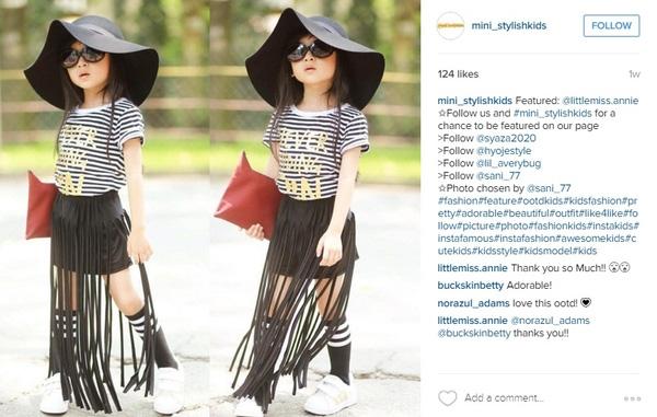 Một fashionista chính hiệu, nghề nghiệp có thể mang về những khoản thu nhập đầu tiên cho cuộc đời bé Ân   Thiên Ân hiện đang sinh sống ở thành phố Hồ Chí Minh và là một trong những gương mặt mẫu nhí được chú ý nhất tại thời điểm này   Vì có vẻ bề ngoài xinh đẹp, những bức hình chụp Thiên Ân trên instagram của bé thu hút rất nhiều người xem.