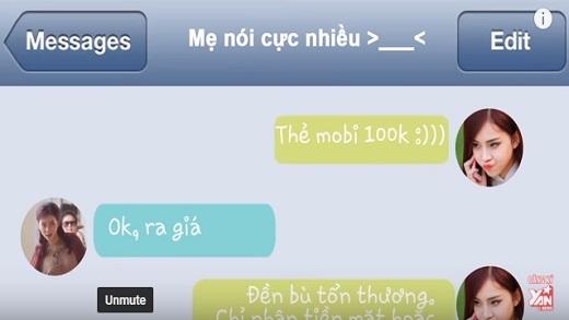 Những tin nhắn thú vị giữa mẹ và con