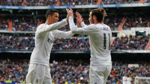 Ronaldo và Bale (11) sẽ gánh vác hàng công Real
