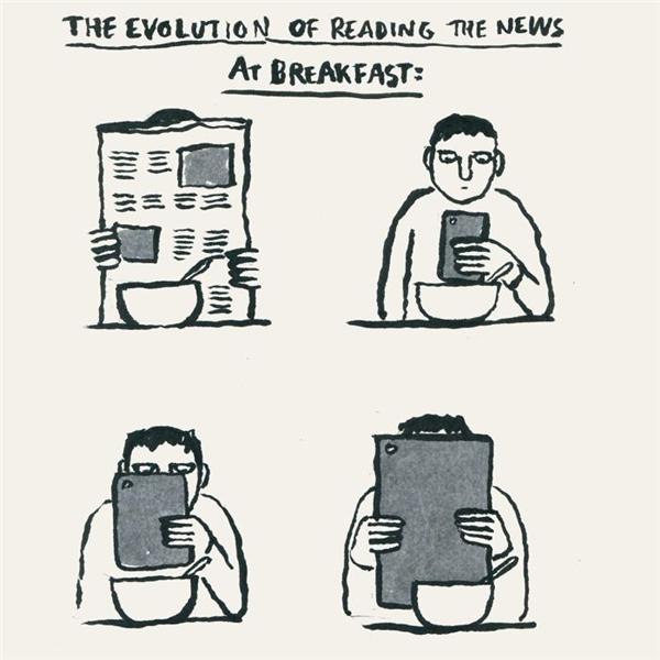 Sự tiến hóa của công nghệ. (Ảnh: Internet)