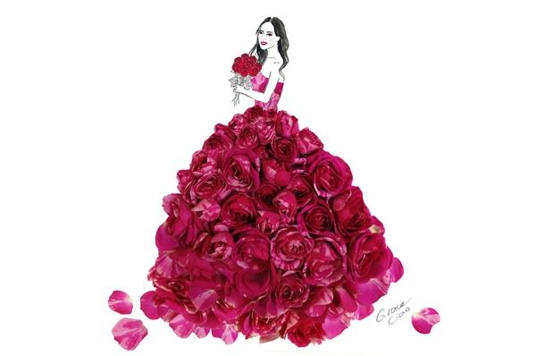 Hoa hồng ngọt ngào, lãng mạn.