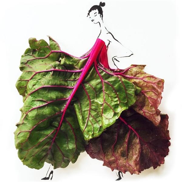 Ngay cả rau, củ - những thực phẩm thông dụng cũng được các nghệ sĩ tài hoa ứng dụng một cách khéo léo.