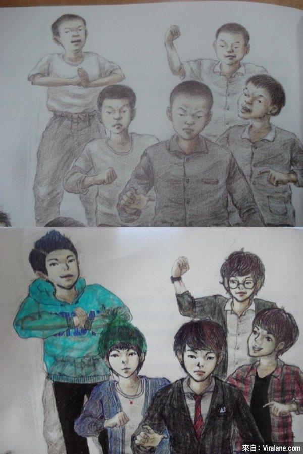"""Đám trẻ nít lưu manh trong xóm ngày nào đã vụt lớn thành... """"găng-xtơ"""" trường học rồi. (Ảnh: Internet)"""