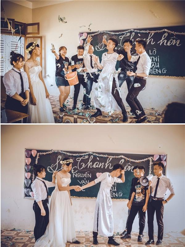 """Đám cưới của """"bộ 3 lạ lùng"""".(Ảnh: NVCC)"""