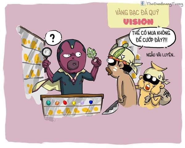 Anh Vision bày vàng bạc đá quý ra bán, thách đứa nào dám cướp tiệm vàng của anh!(Ảnh: Nhà Thổ)