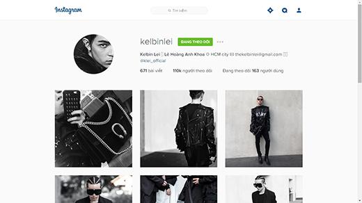 """Kelbin Lei là một trong những fashionisto có lượt follow thuộc hàng """"khủng"""" ở Việt Nam. (Ảnh: Internet)"""