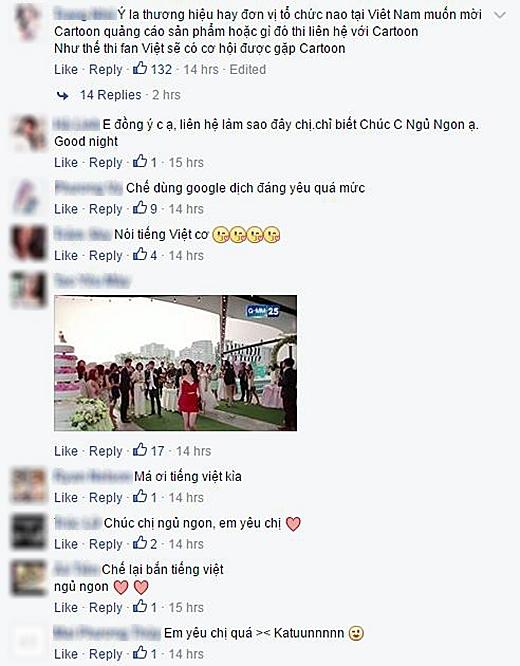 Một số bình luận khen ngợi của cộng đồng mạng Việt Nam (Ảnh: Internet)